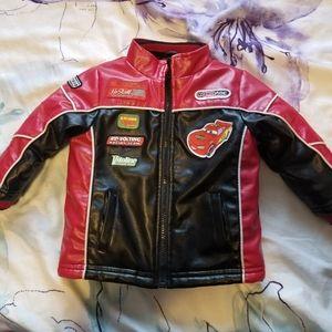 Disney Moto Racing Faux Leather Boys Jacket 18mths